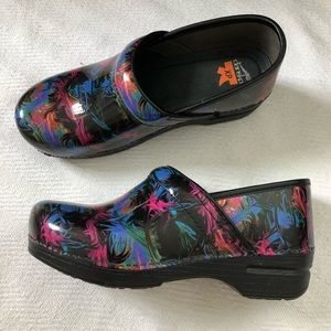 Dansko XP Colorful Splatter Slip Resistant Shoes